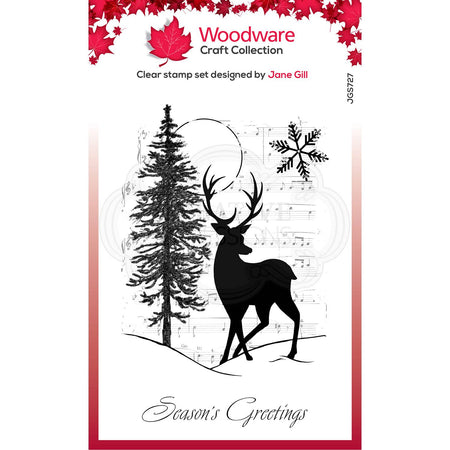 Woodware Clear Magic Stamps - Musical Deer