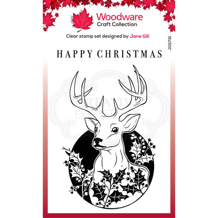 Woodware Clear Magic Stamps - Circle Deer