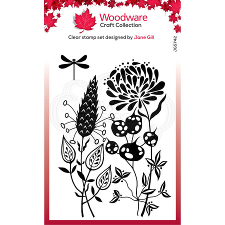 Woodware Clear Magic Stamps - Autumn Pods