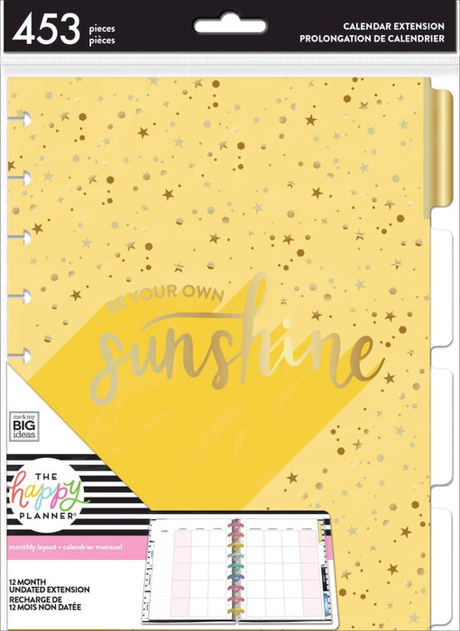Me & My Big Ideas Happy Planner - 12 Month Extension Pages Sunshine