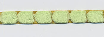 May Arts Fuzzy Centred Dot Ribbon - Green