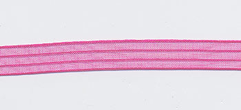 May Arts Iridescent Sheer Stripes - Fuschia