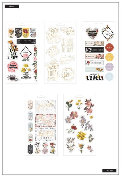Me & My Big Ideas Happy Planner - Vintage Botanical Stickers
