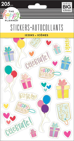 Me & My Big Ideas Happy Planner - Mini Icons Stickers