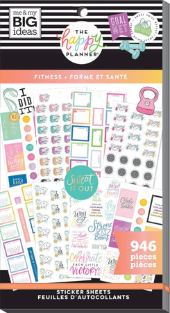 Me & My Big Ideas Happy Planner - Sticker Value Pack Fitness