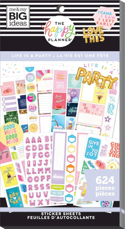 Me & My Big Ideas Happy Planner - Sticker Value Pack Life Is a Party