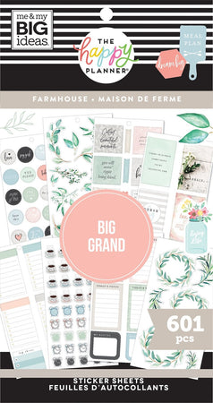 Me & My Big Ideas Happy Planner Sticker Value Pack - BIG Farmhouse
