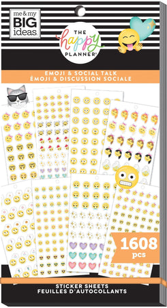 Me & My Big Ideas Happy Planner Sticker Value Pack - Emoji & Social Talk