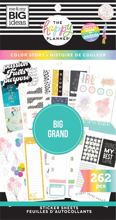 Me & My Big Ideas Happy Planner Sticker Value Pack - BIG Color Story