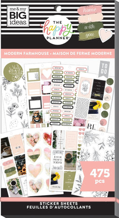 Me & My Big Ideas Happy Planner Sticker Value Pack - Modern Farmhouse