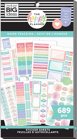 Me & My Big Ideas Happy Planner Sticker Value Pack - Mood Tracking/Mental Health