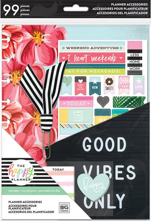 My Big Ideas Happy Planner - Good Vibes Only Classic Planner Student Accessory Pack