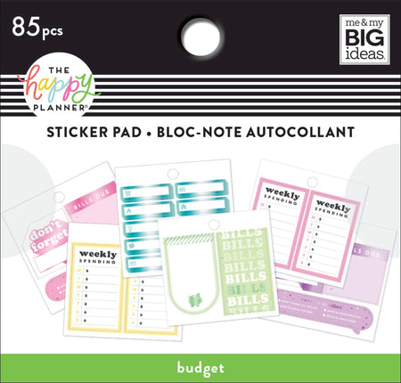 Me & My Big Ideas Happy Planner - Tiny Sticker Pad Budget