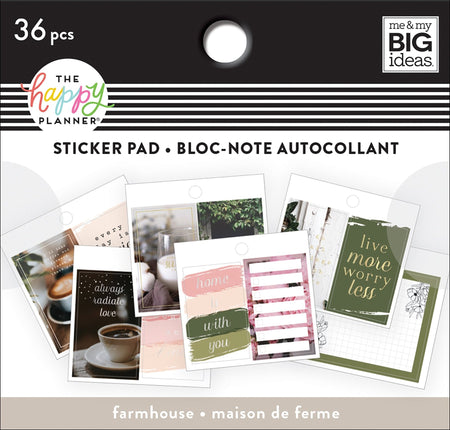 Me & My Big Ideas Happy Planner - Tiny Sticker Pad Farmhouse