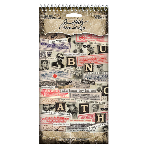 Tim Holtz Idea-Ology - Halloween Sticker Book Curiosities