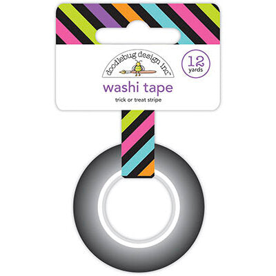 Doodlebug Design Ghost Town - Trick or Treat Stripe Washi Tape