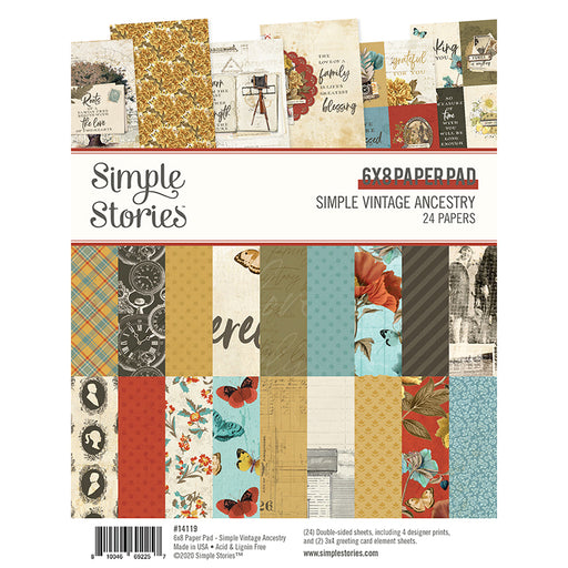 Simple Stories Simple Vintage Ancestry - 6x8 Paper Pad