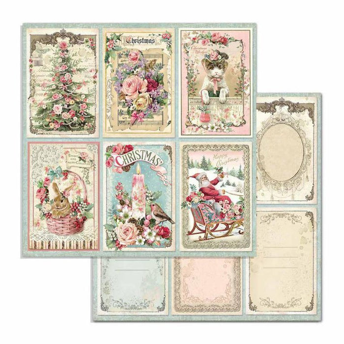 Stamperia - Pink Christmas Cards
