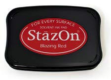 StazOn Inkpad - Blazing Red