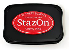 StazOn Inkpad - Cherry Pink