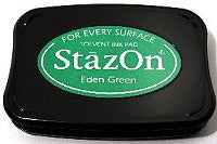 StazOn Inkpad - Eden Green