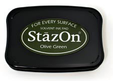 StazOn Inkpad - Olive Green