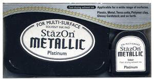 StazOn Metallic Inkpad - Platinum