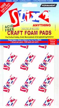 Stix2 Craft Foam Pads - 3mm x 3mm x 2mm
