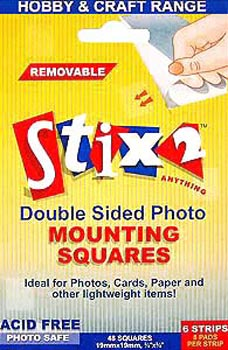 Stix2 Double Sided Photo Mounting Squares
