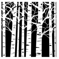 Crafter's Workshop 6x6 Template -  Aspen Trees