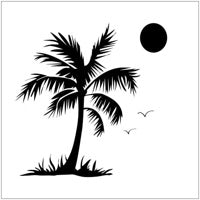 Crafter's Workshop 6x6 Template - Palm Tree