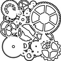 Crafter's Workshop 6x6 Template - Gears