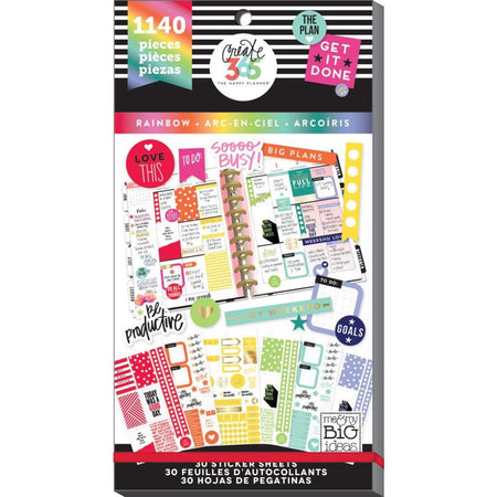 Me & My Big Ideas Happy Planner - Sticker Value Pack The Plan Rainbow
