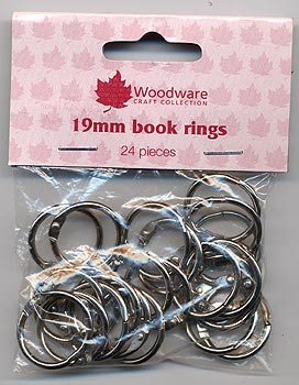 "Woodware Book Rings - 0.75"" Silver (Pack of 24)"