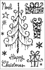 Woodware Clear Magic Stamps - Tapestry Christmas