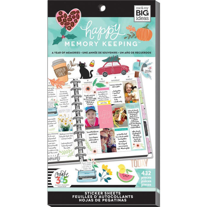 Me & My Big Ideas Happy Memory Keeping - Sticker Value Pack Year of Memories