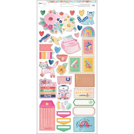 American Crafts Dear Lizzy She's Magic - Accent & Phrase Stickers