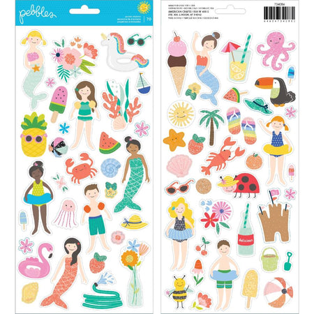 Pebbles Oh Summertime - Accent Stickers