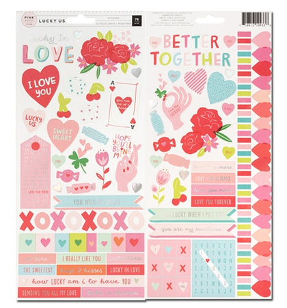 Pink Paislee Lucky Us - Accent Stickers