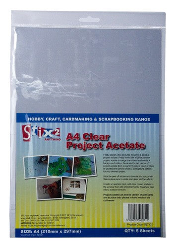 Stix2 A4 Clear Acetate Sheets
