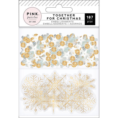 Pink Paislee Together For Christmas - Sequins & Acetate Embellishments