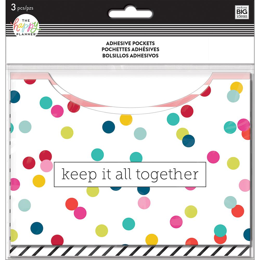 Me & My Big Ideas Happy Planner - Adhesive Pockets Multi Dot