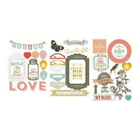 Project Life Chipboard Stickers - Adventure