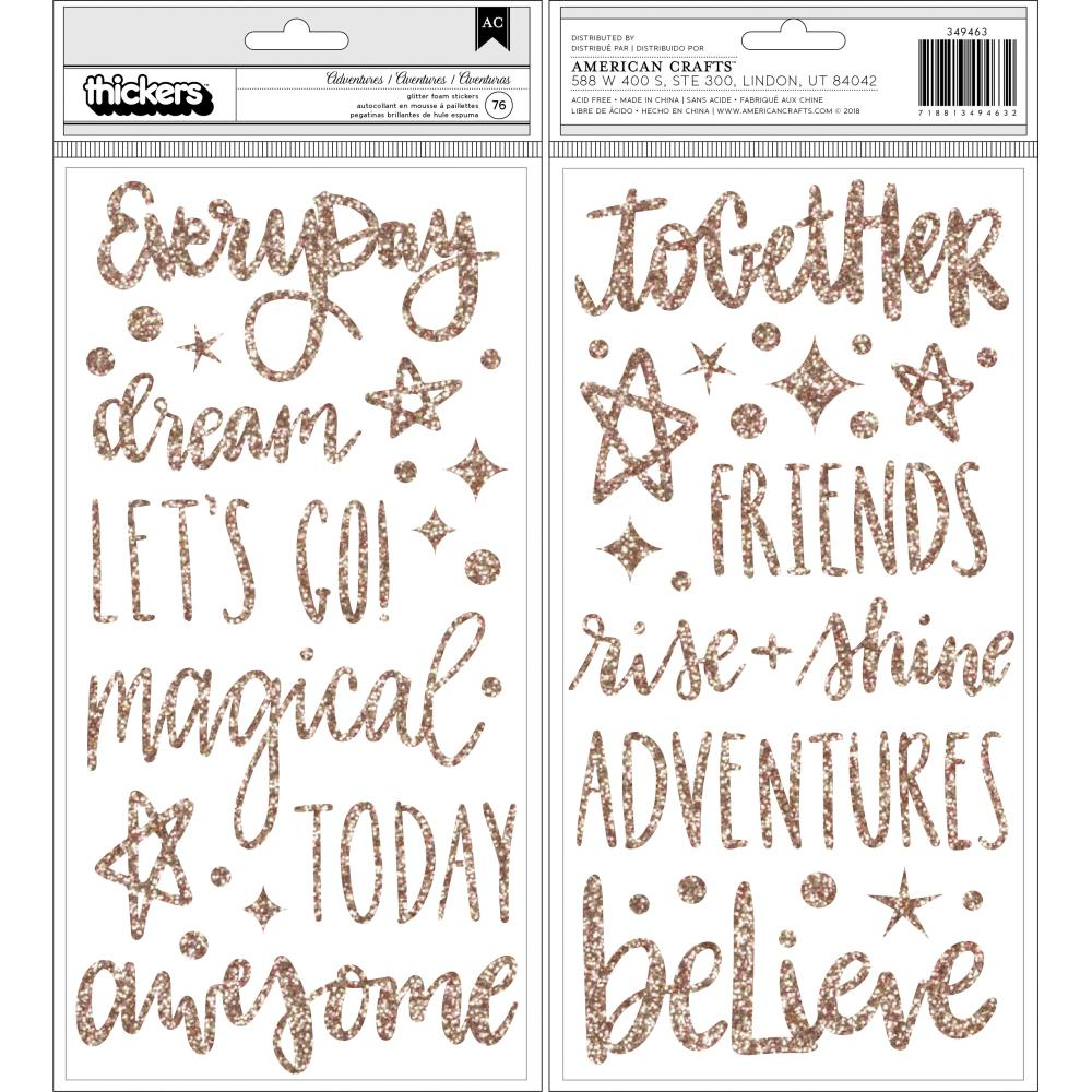 American Crafts Shimelle Head In The Clouds - Glitter Foam Adventures Thickers