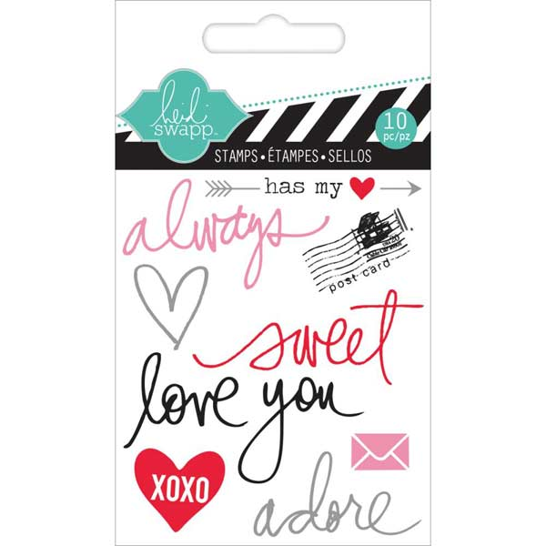 Heidi Swapp Mixed Media Clear Mini Stamps - Always