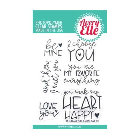 Avery Elle Clear Stamps - And Then