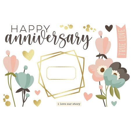 Simple Stories Page Pieces - Anniversary