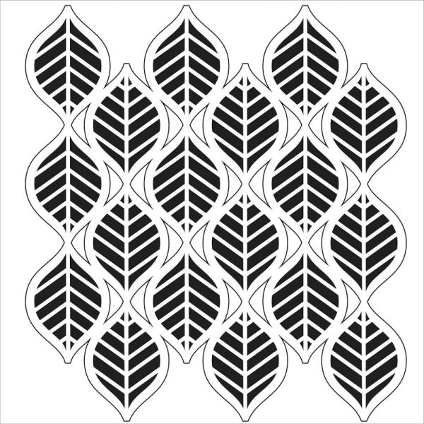 Crafter's Workshop 6x6 Template - Art Deco Leaves