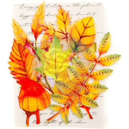 Prima Printed Fabric Leaves - Autumn Maple
