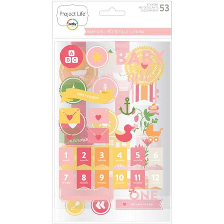 Project Life Chipboard Stickers - Baby Girl